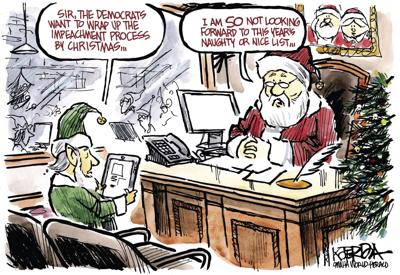 Jeff Koterba's latest cartoon: He's making a list. A very long list.