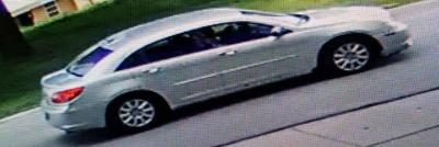 This car fled after critically injuring a bicyclist Monday