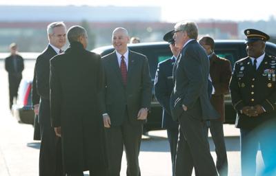 Obama in Omaha - Ricketts