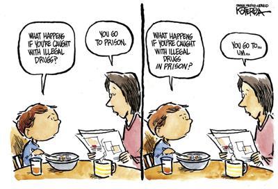 Jeff Koterba's Sept. 15 cartoon: Drugs in prison