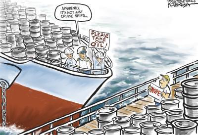 Jeff Koterba's latest cartoon: Over a barrel