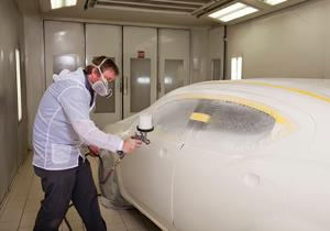 Offutt Collision Repair | Paint Booth with Marv