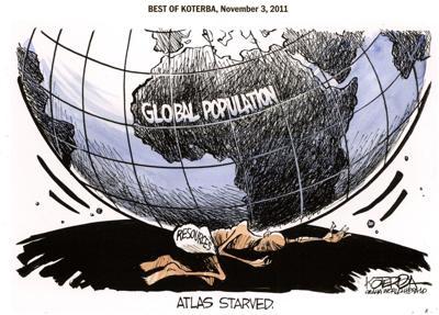 Best of Jeff Koterba's cartoons: Global population