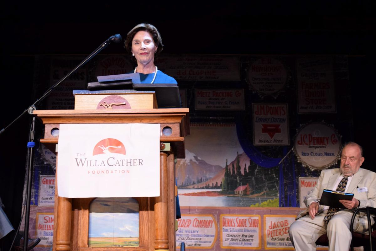 Bush lauds Cather's timeless tales at opening