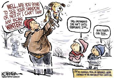 Jeff Koterba's latest cartoon: Hound Dog Day