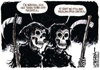 Jeff Koterba's latest cartoon: Grim reality