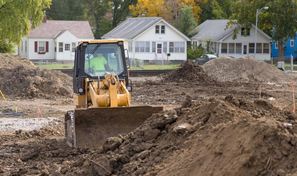 Grading work at former Mister C's property in Omaha