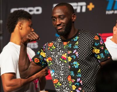 Welterweight champs Terence 'Bud' Crawford and Errol Spence Jr, meet, but reunion in ring unlikely