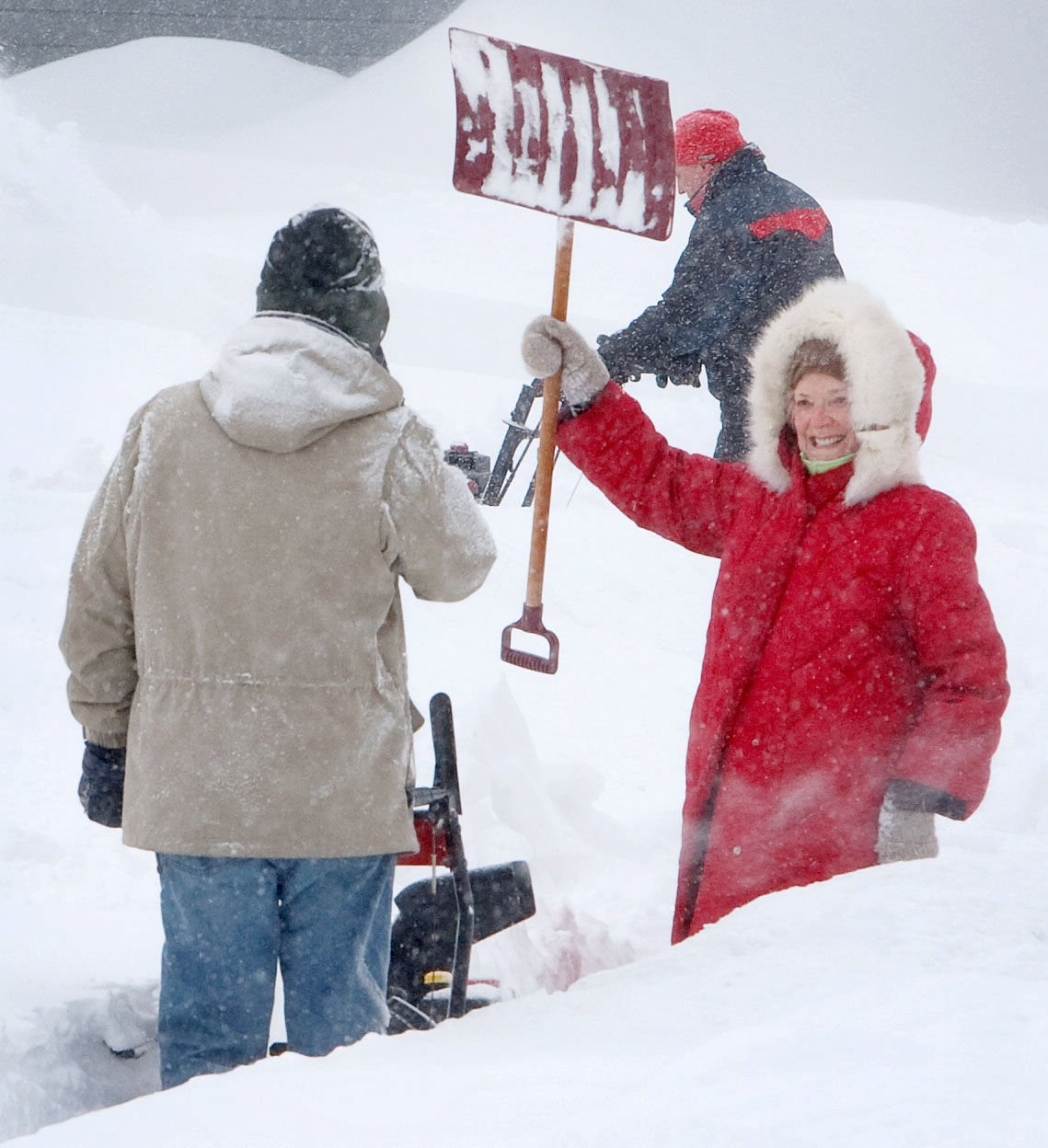 winter blizzard in 09 produced heartwarming and heart stopping