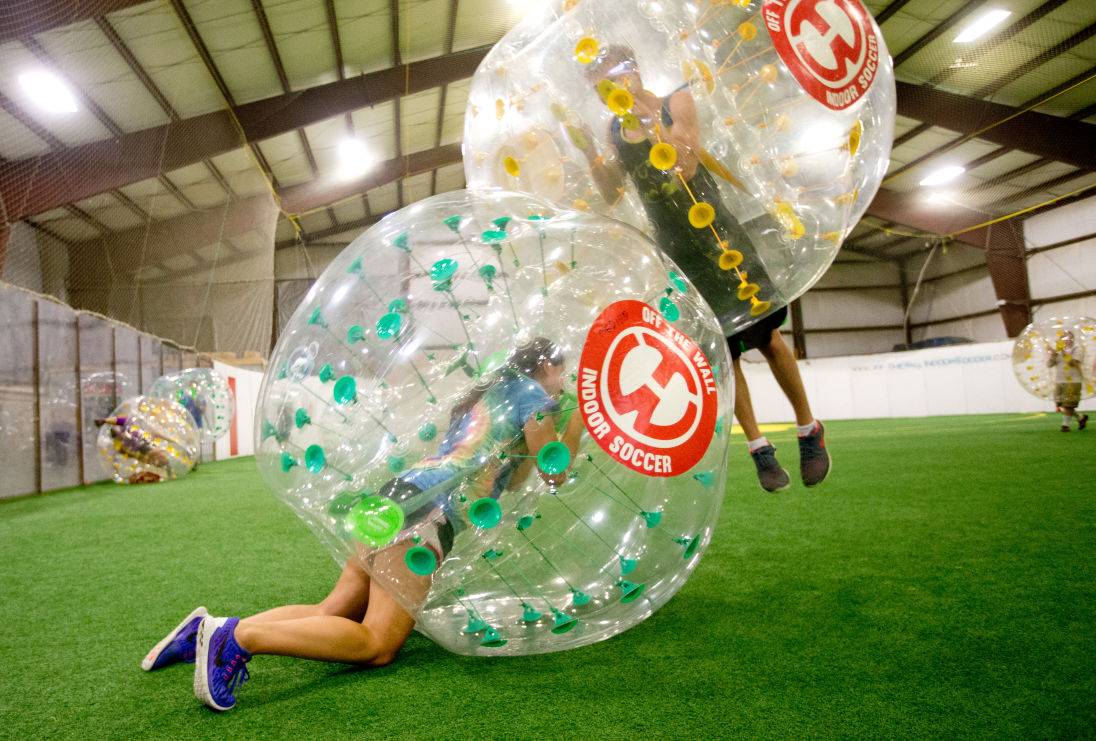Bubble soccer bursts with fun