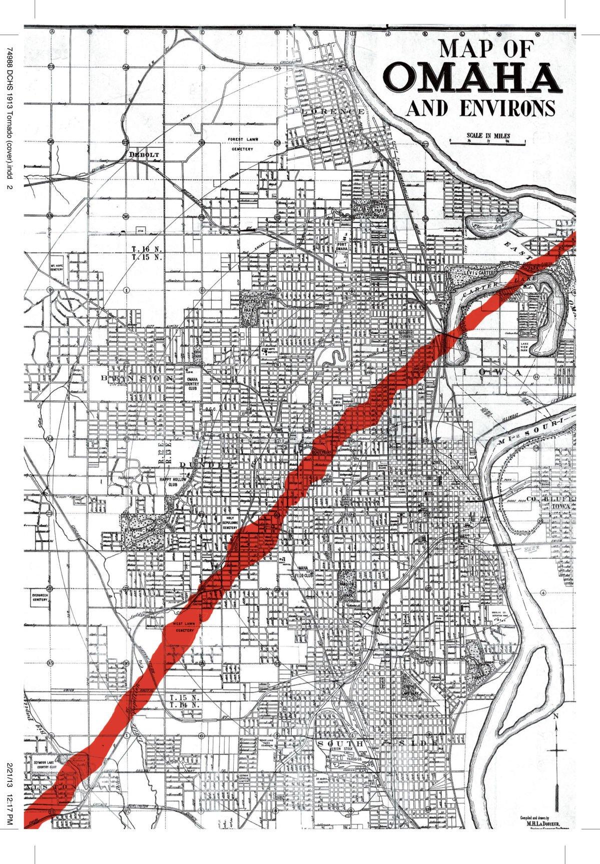 March 23 1913 Monster tornado rips a scar across Omaha