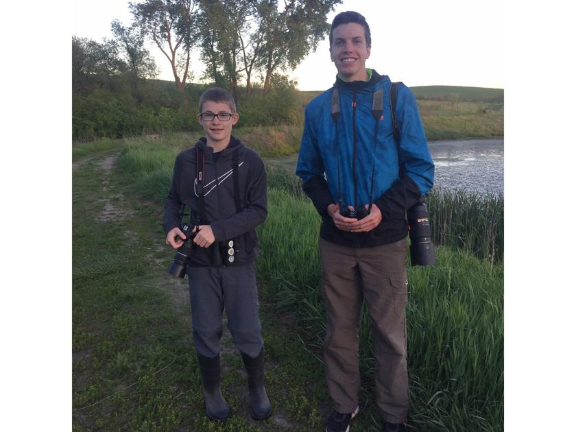 These two local youngsters aren't your usual birders