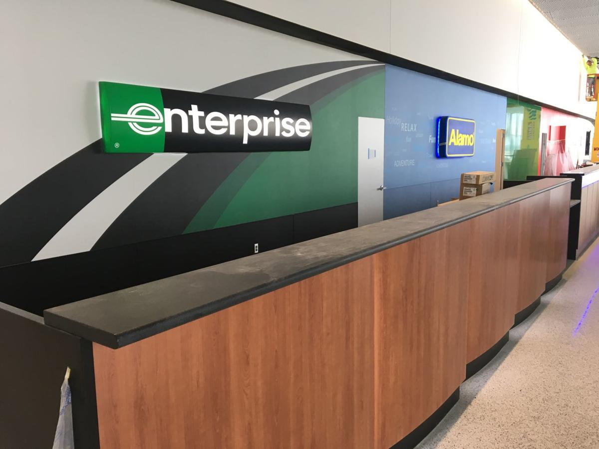 Eppley Airfield will have a new rental car counter and parking.