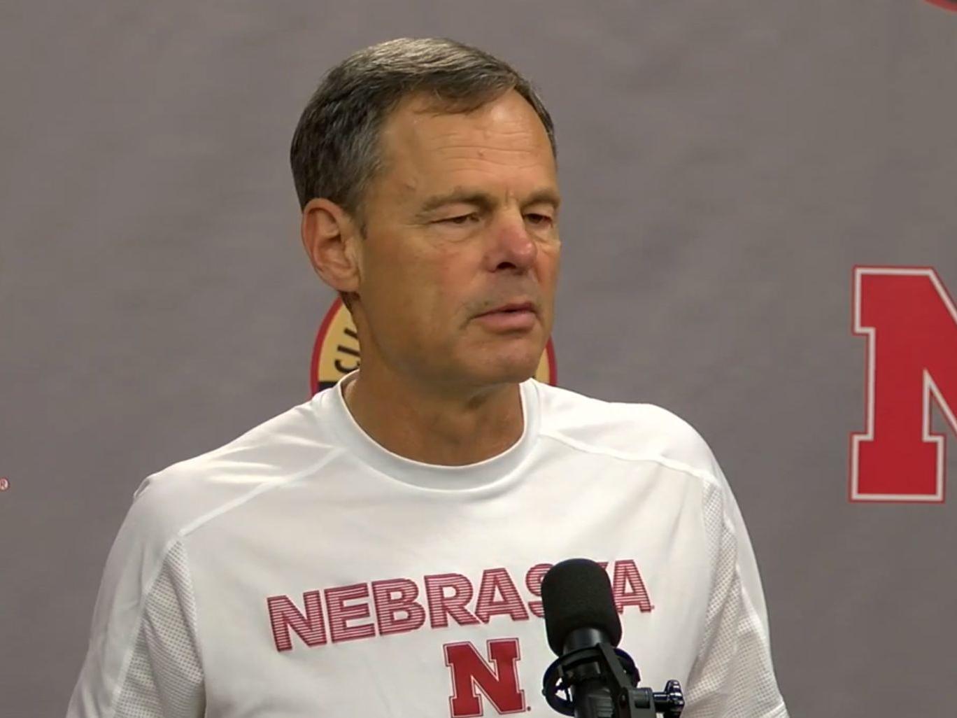 Husker volleyball coach John Cook discusses high school volleyball in Nebraska