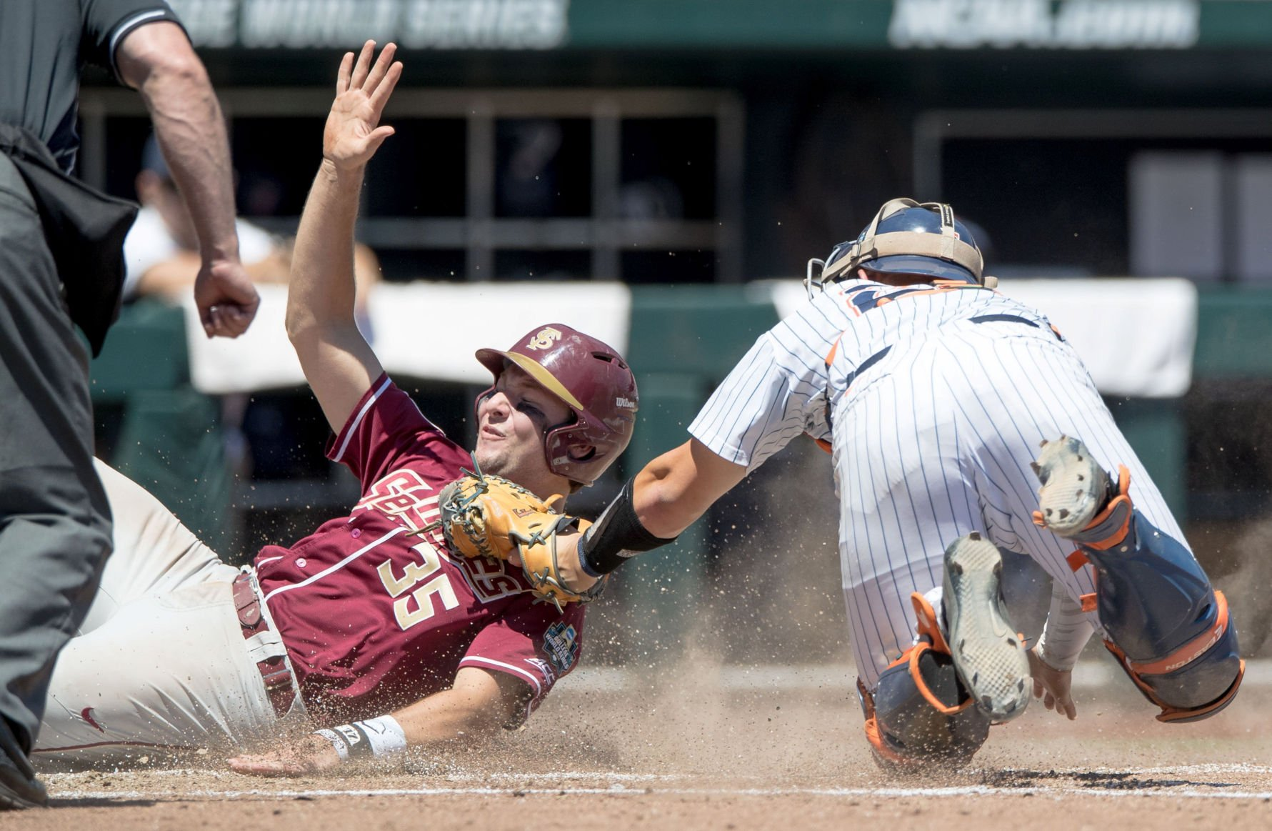 FSU scores three in the seventh to eliminate Cal State Fullerton