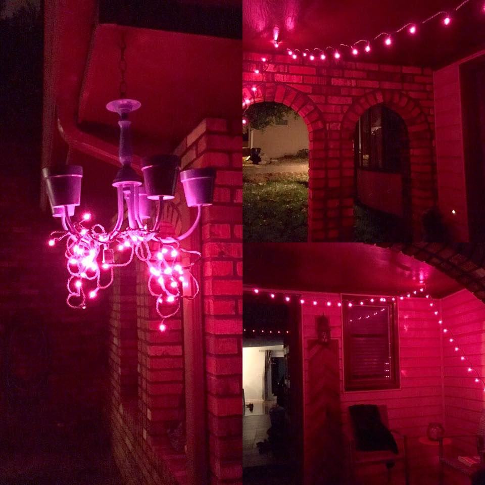 pink out lights