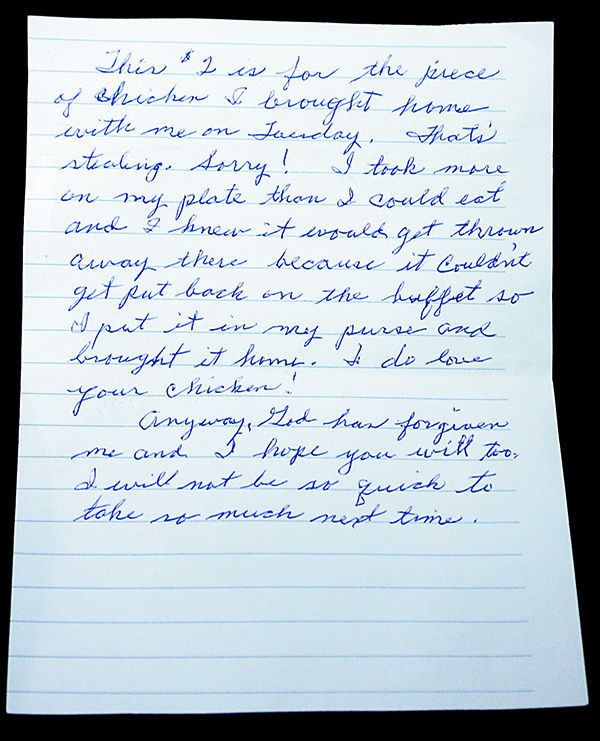 Nebraska chicken thief sends KFC 2 and a letter of apology GO