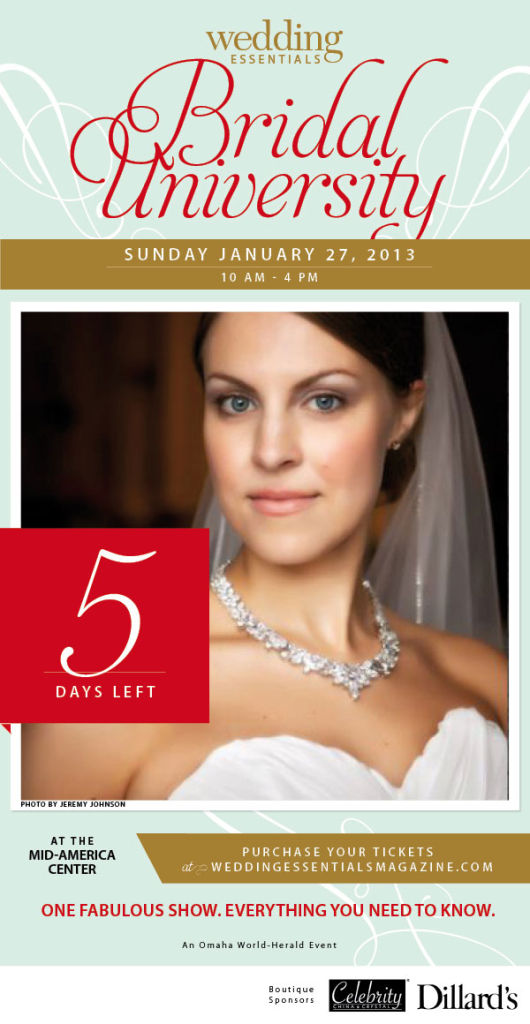 5 days left until Wedding Essentials Bridal University 2013!