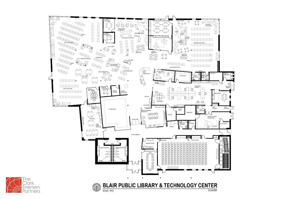 Blair looks to finish new library in summer 2017 nebraska blair library blueprint malvernweather Gallery