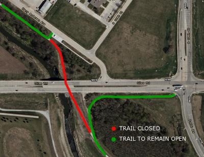 West Papio Trail closure