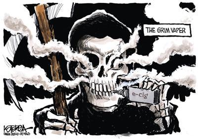 Jeff Koterba's latest cartoon: Smoke gets in your eyes