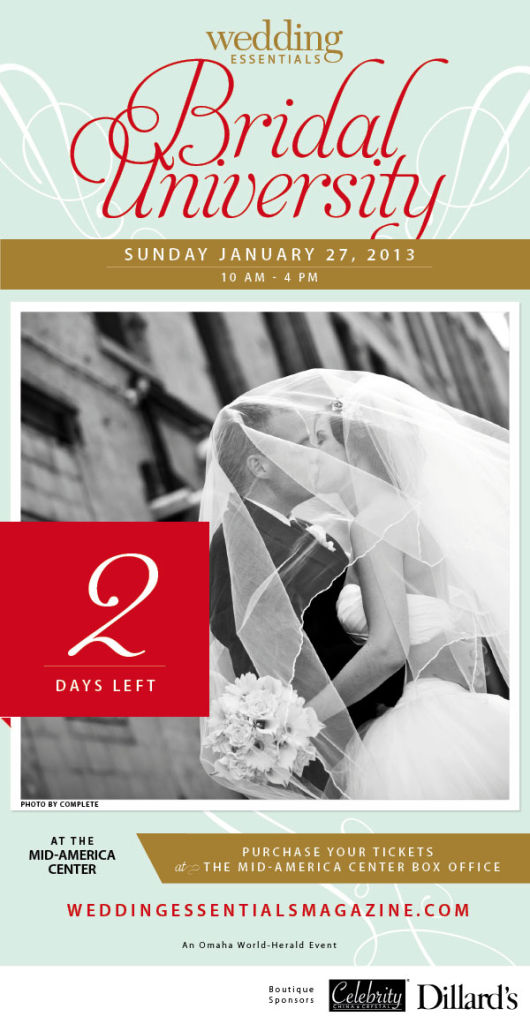 2 Days Left Until Wedding Essentials Bridal University 2013