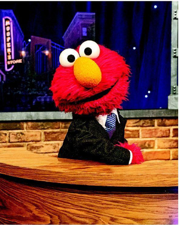 Elmo readies for his own starry talk show