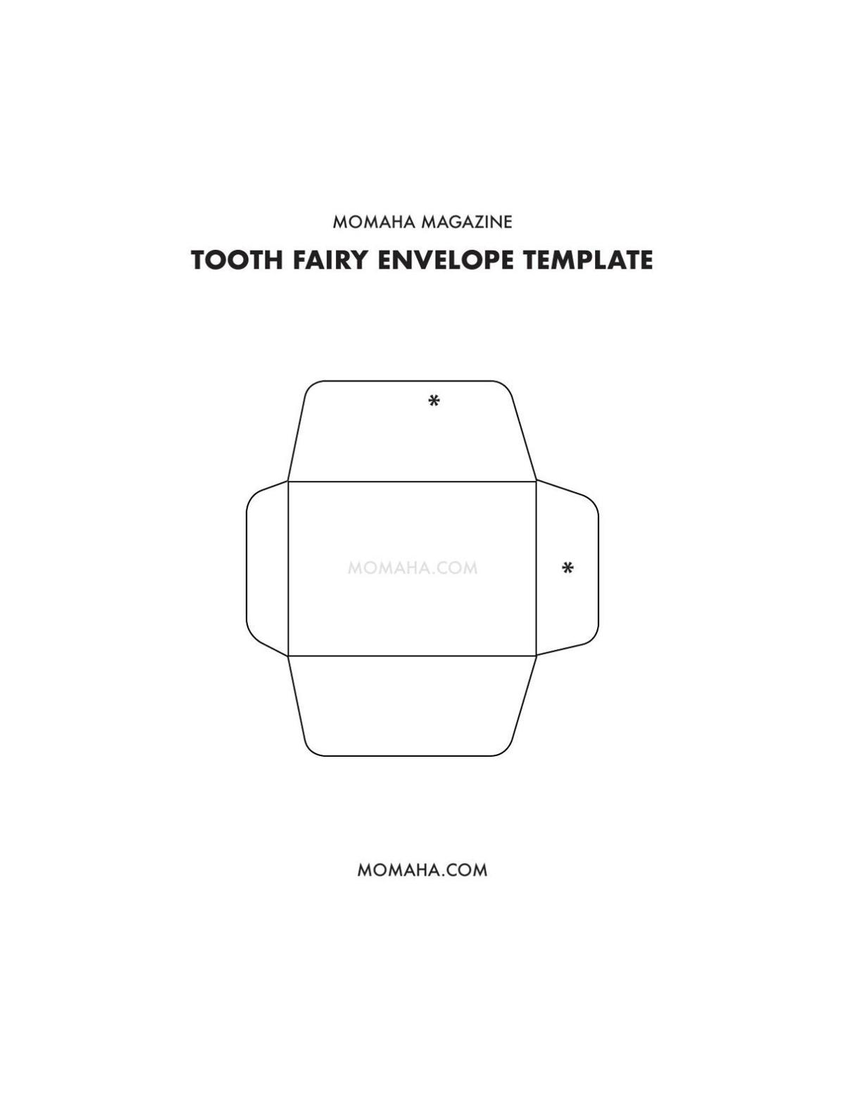 Envelope Template | Tooth Fairy Envelope Template Omaha Com