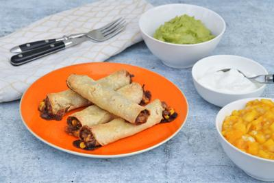 These black bean and corn taquitos are as much fun to make as they are to eat