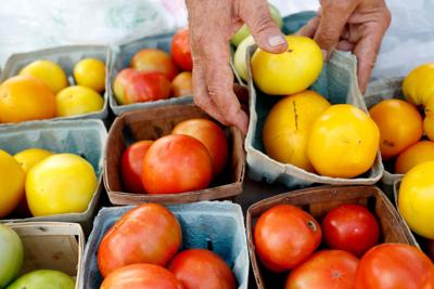 Pick up some goodies at a local farmers market