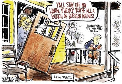 Jeff Koterba's latest cartoon: Getting paranoid?