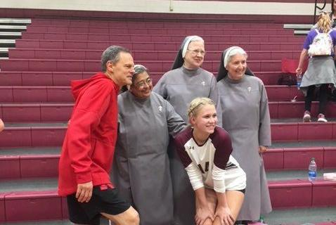 Annika Evans, John Cook and nuns