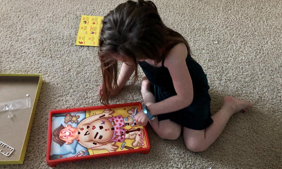 Kate Kirkle playing games