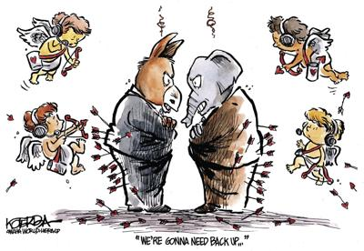 Jeff Koterba's latest cartoon: Needing more arrows