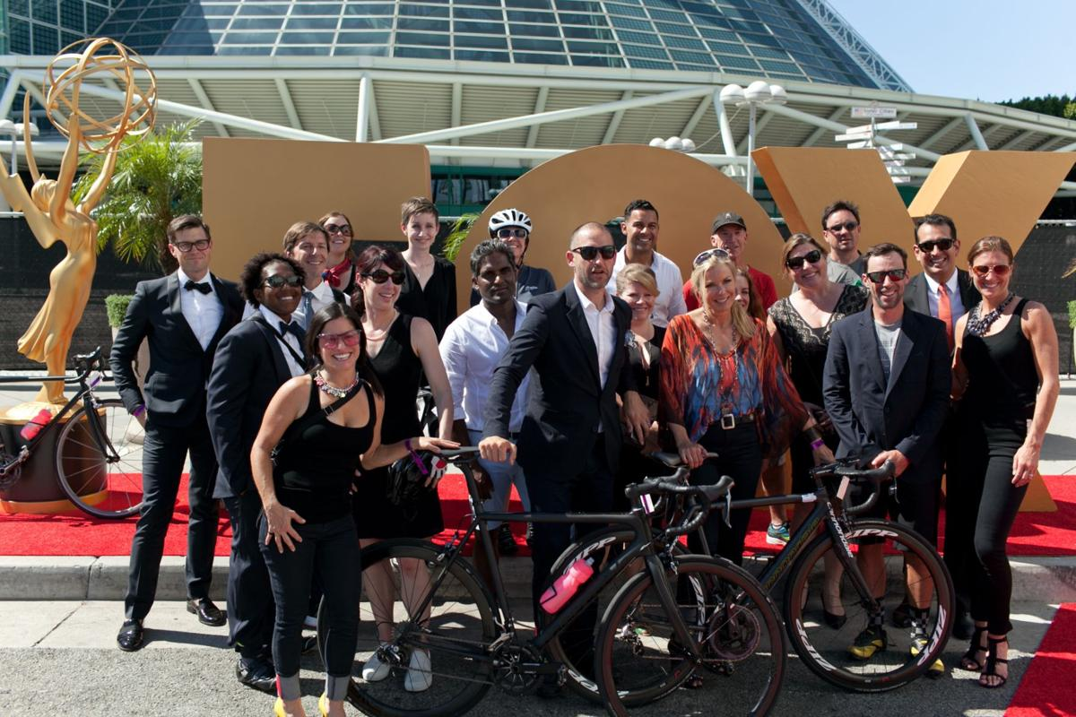 Group shot of bike to Emmys