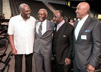 From left Bob Gibson, Marlin Briscoe, Johnny R.JPG
