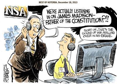 Best of Jeff Koterba's cartoons: Heard from Founding Father