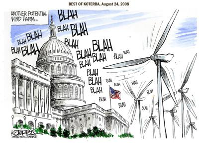 Best of Jeff Koterba's cartoons: Wind from the East