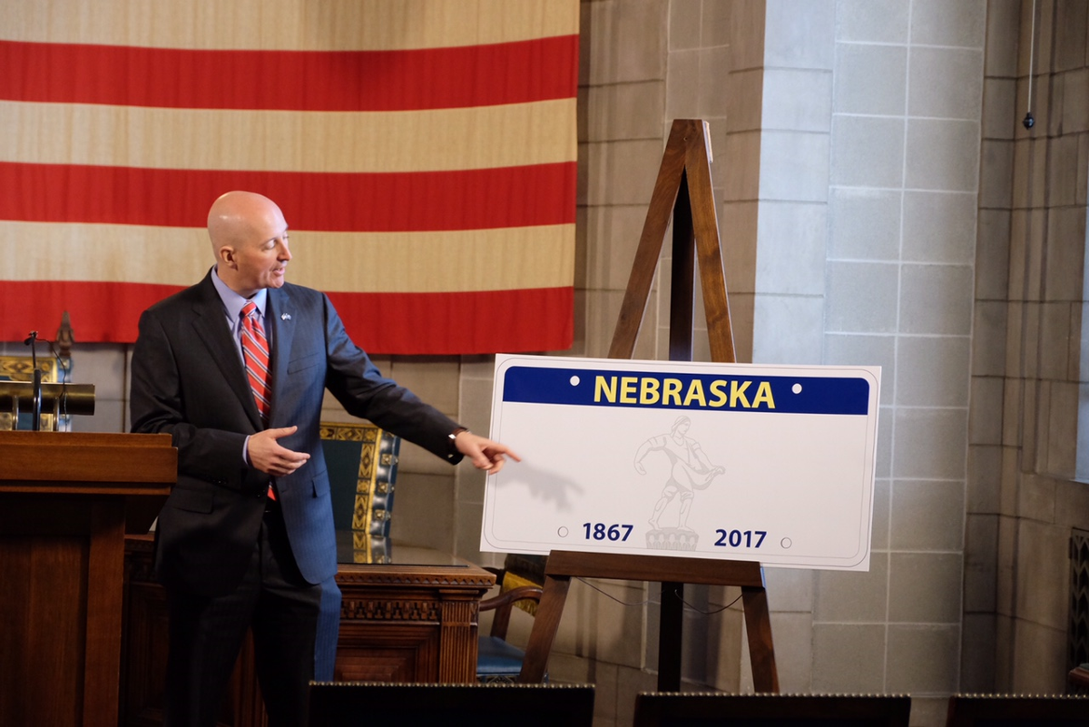 Ricketts releases new Nebraska license plates