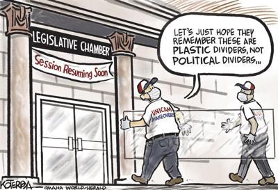 Jeff Koterba's latest cartoon: Dividers not divisiveness