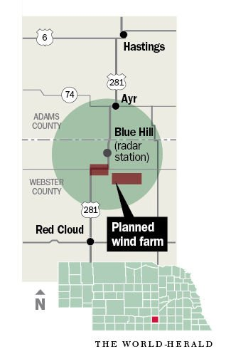 Nebraska wind farm to go dark during storms to protect nearby ...