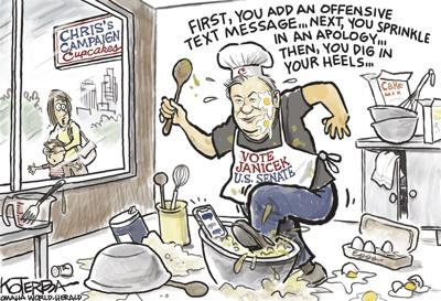 Jeff Koterba's latest cartoon: Half-baked campaign