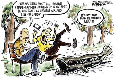 Jeff Koterba's latest cartoon: Snake and fake