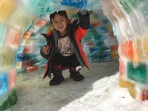 Photos: How this Omaha family built a life-size, multicolored igloo in their backyard