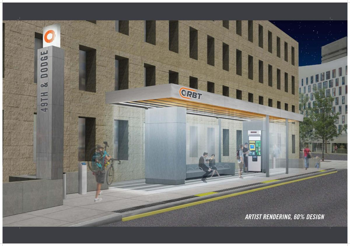 Proposed bus stops for high-tech bus line coming to Omaha