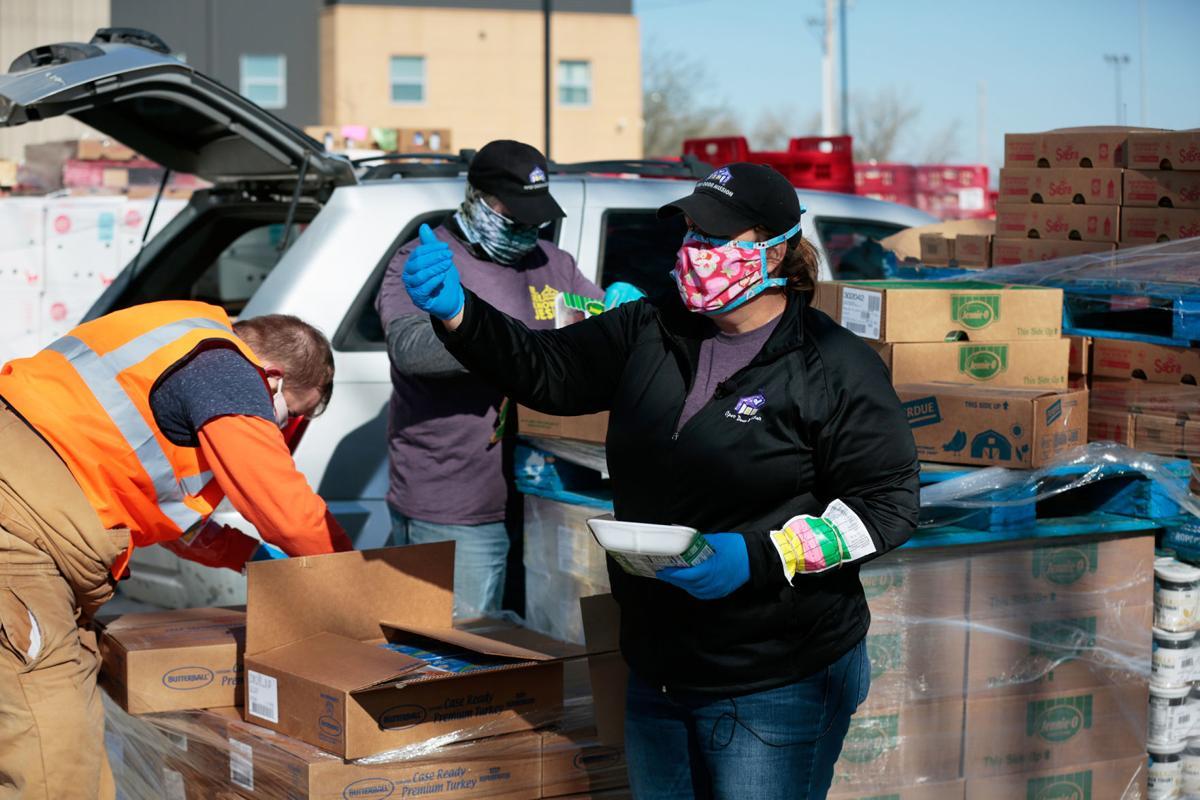 open door mission drive-thru relief effort