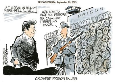 Best of Jeff Koterba's cartoons: Singin' the prison blues