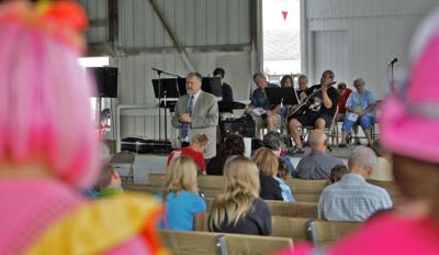 Church celebrates 25th year of outdoor services at county fair