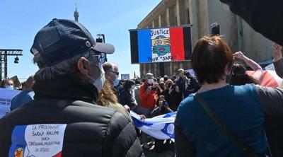 Halimi protests