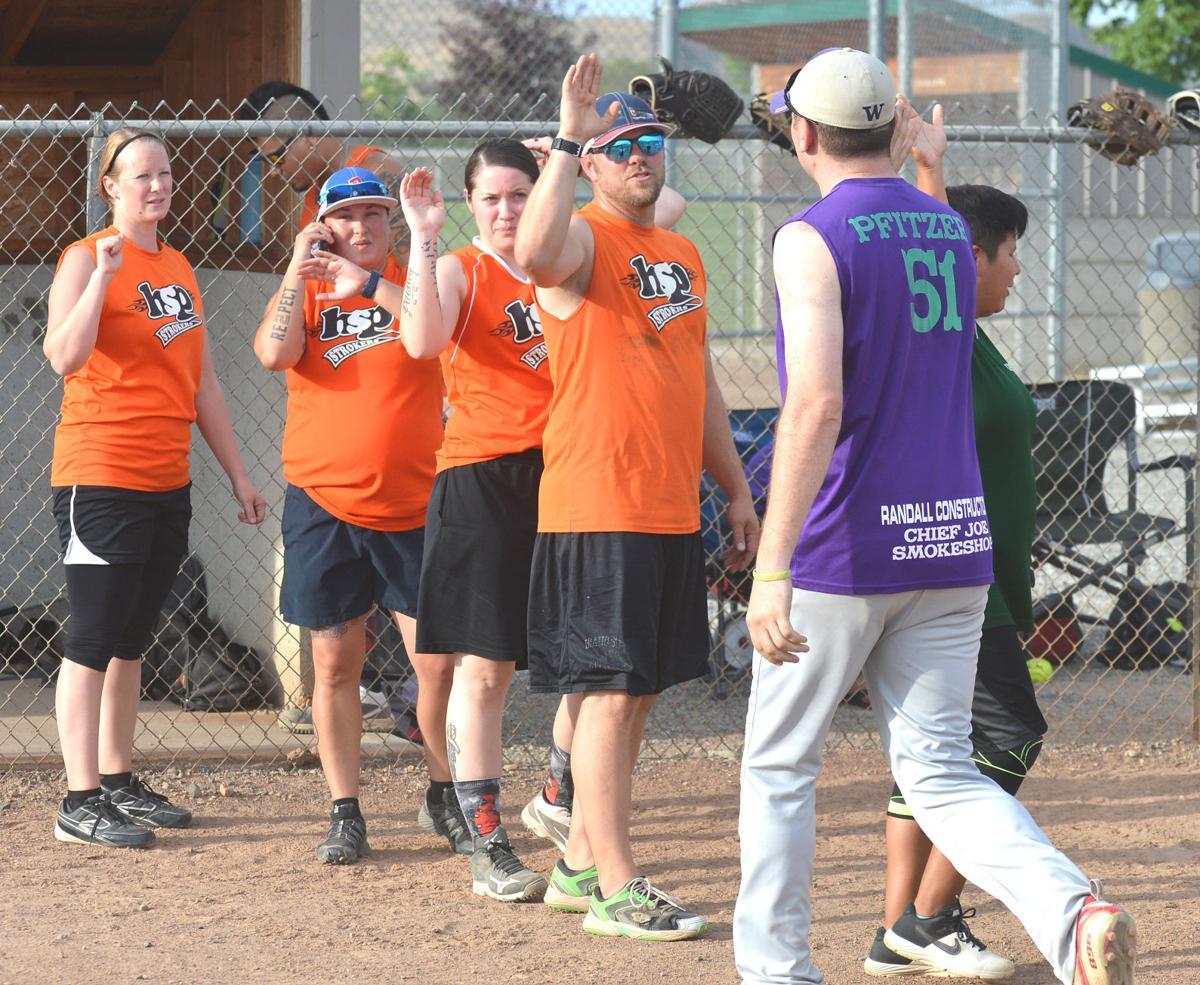 Dustin Pfitzer hits home run